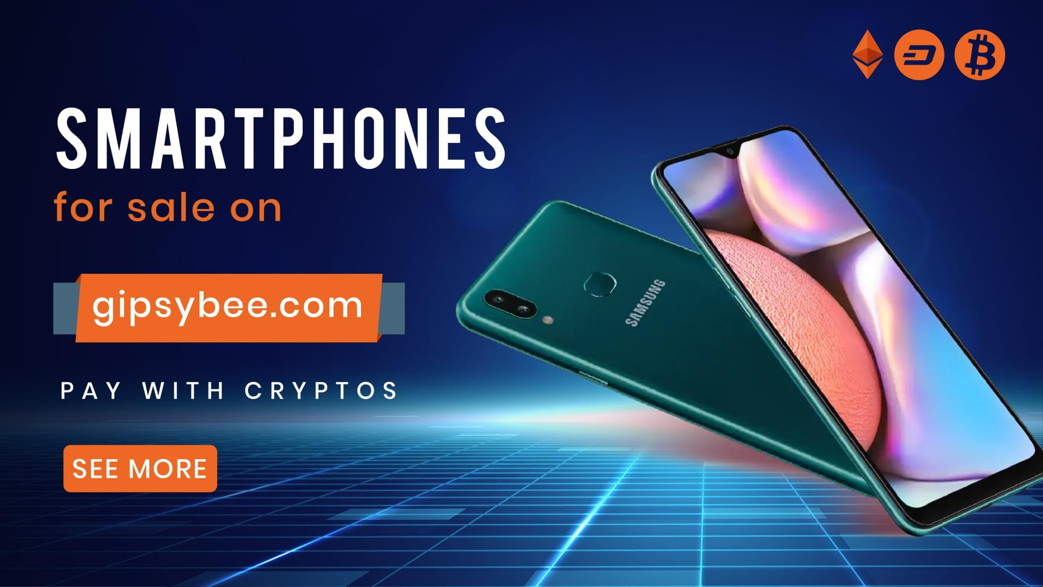 Buy Mobile Phones and accessories with Bitcoin, Ethereum, Litecoin, DASH, USDT, UTK on Gipsybee.com with FREE SHIPPING